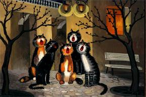 Коты поющие картинка