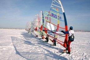 Зимний виндсерфинг - Спортивные мероприятия в Мурманске.